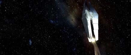 Vesmírná stanice Star Forge ze spodního pohledu