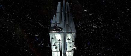 Star Forge obklopená obrovskou flotilou Sithských lodí