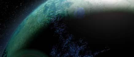Pohled na planetu Taris