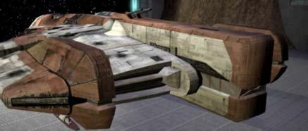 Obrázek vesmírné lodě Ebon Hawk